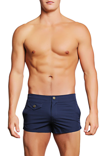 PoolBoy Navy Shorty Short - CheapUndies.com