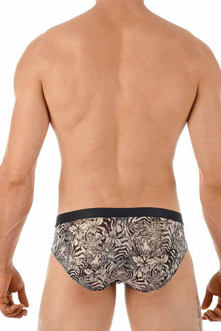 Gregg Homme Tiger Print Sheer Brief