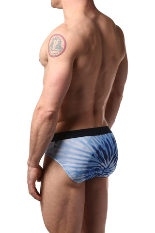 2(X)IST Blue Graphic Sliq Micro Mesh Brief