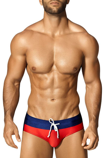 Vuthy Navy & Red Swim Brief