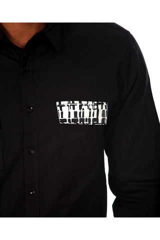 Do Nothing Black Brick By Brick Button Up