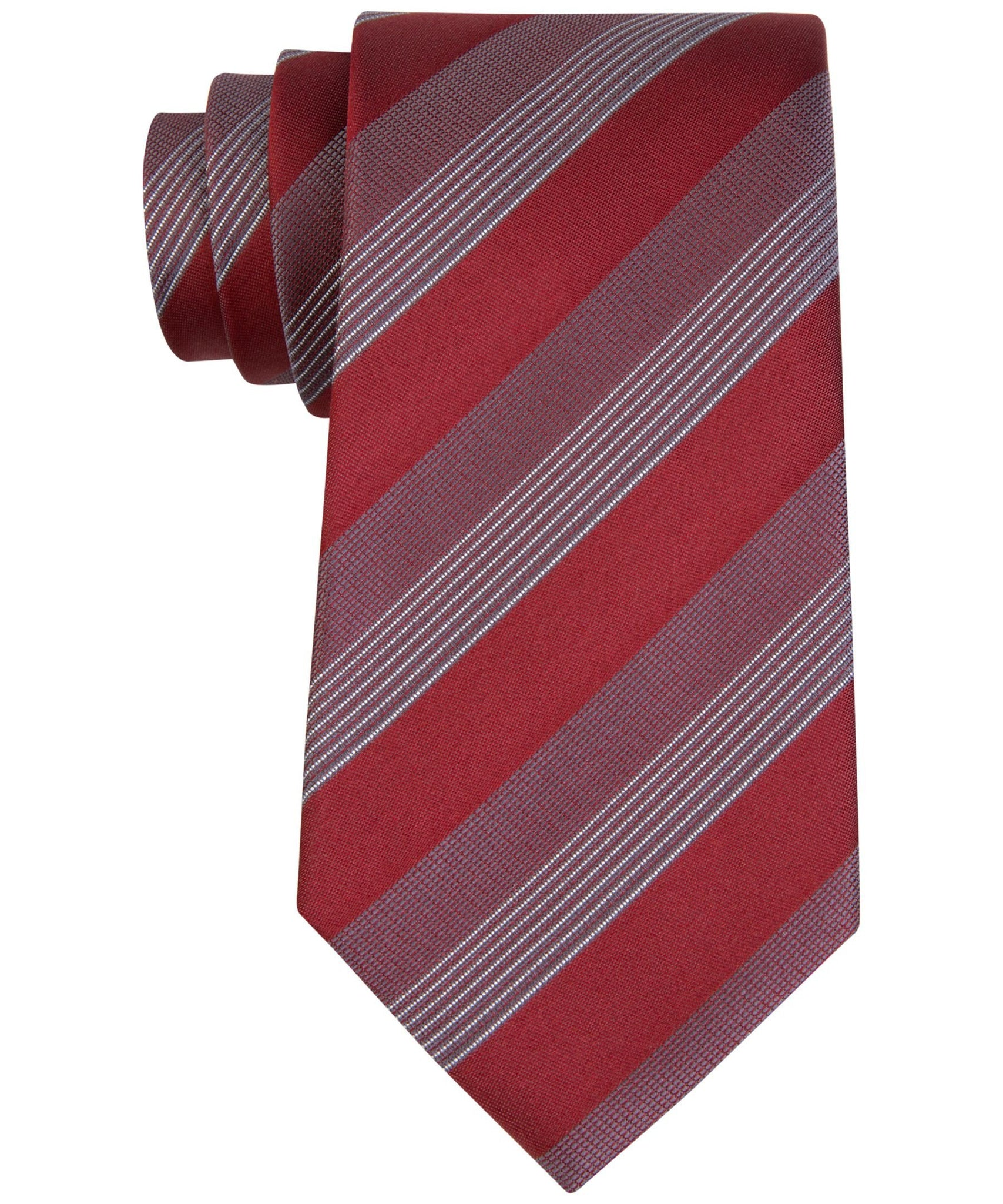 Kenneth Cole Reaction  Elegant Stripe Red One Size