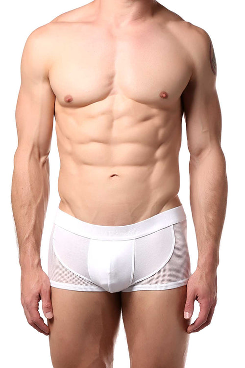 Doreanse White Mesh-Panel Pouch Trunk - CheapUndies.com