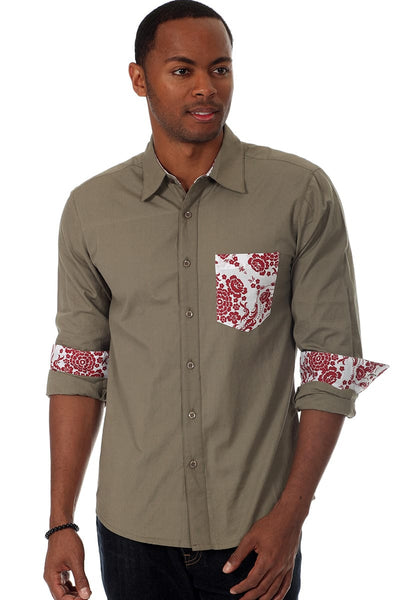 Do Nothing Brown Haveford Button Up