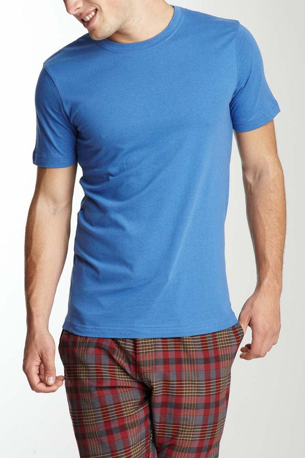 Bottoms Out Blue Heather Knitted Jersey Tee - CheapUndies.com