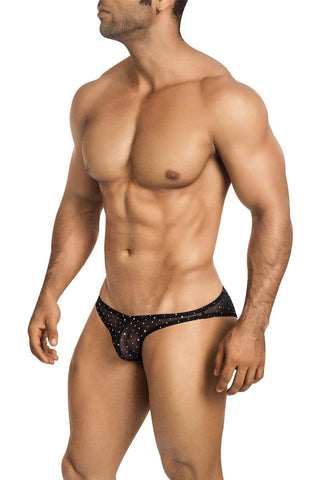 Vuthy Black Hologram Bikini Brief