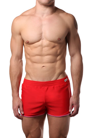 Modus Vivendi Red & Fuchsia Swim Short Set