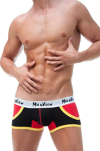 Manview Black Sport Pocket Trunk