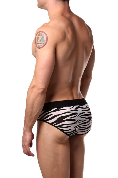 JustinCase White Zebra Brief - CheapUndies.com