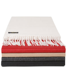 Club Room Classic Solid Cashmere Scarf Charcoal Heather