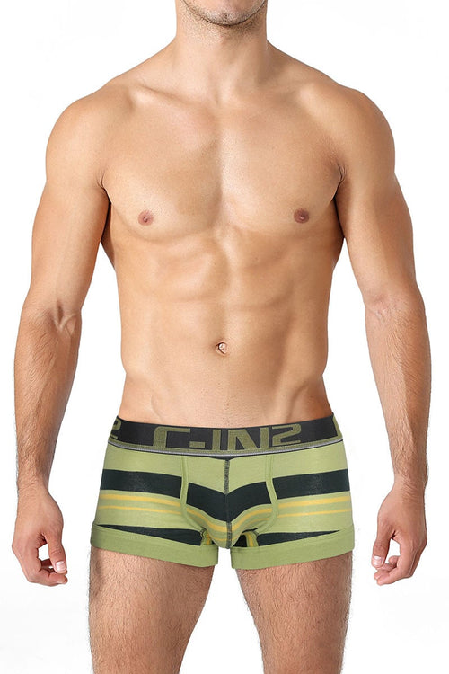 C-IN2 Dark Spruce Color Pop No-Show Sling Army Trunk - CheapUndies.com