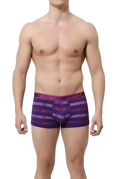 2(X)IST Acai Chevron Stripe No-Show Trunk