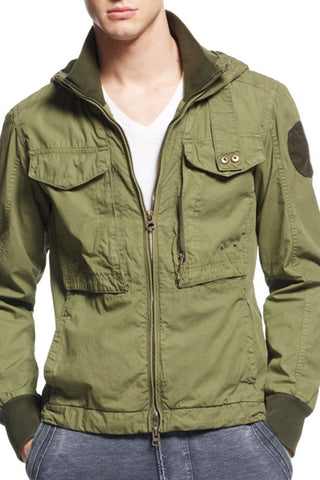 Jetlag Green Hooded Cargo jacket