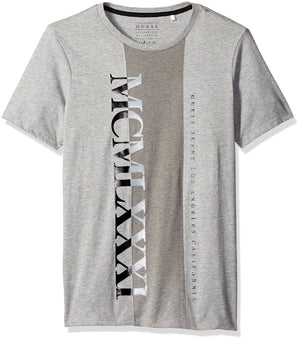 GUESS Duotone Crew Tee Light Heather Grey Multi XL - CheapUndies.com