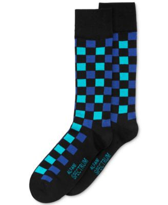 Alfani Spectrum Check Dress Socks