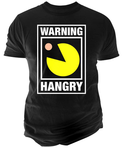 Changes Hangry Pac-Man Graphic T-Shirt Black XL - CheapUndies.com
