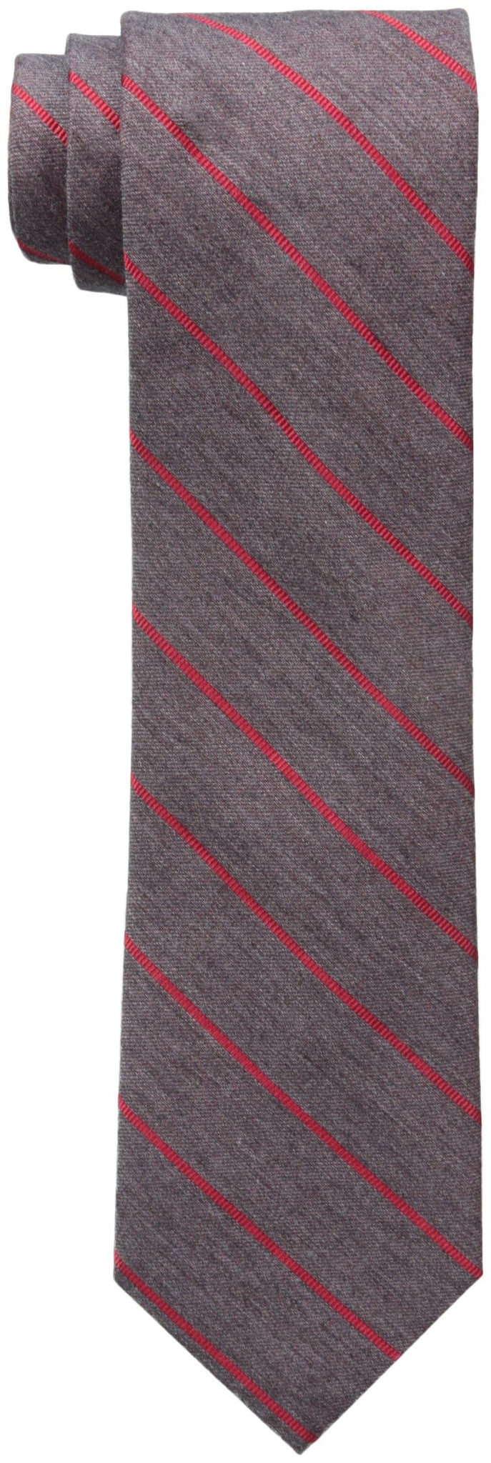 Calvin Klein Red Hot Repp Stripe Tie Charcoal One Size