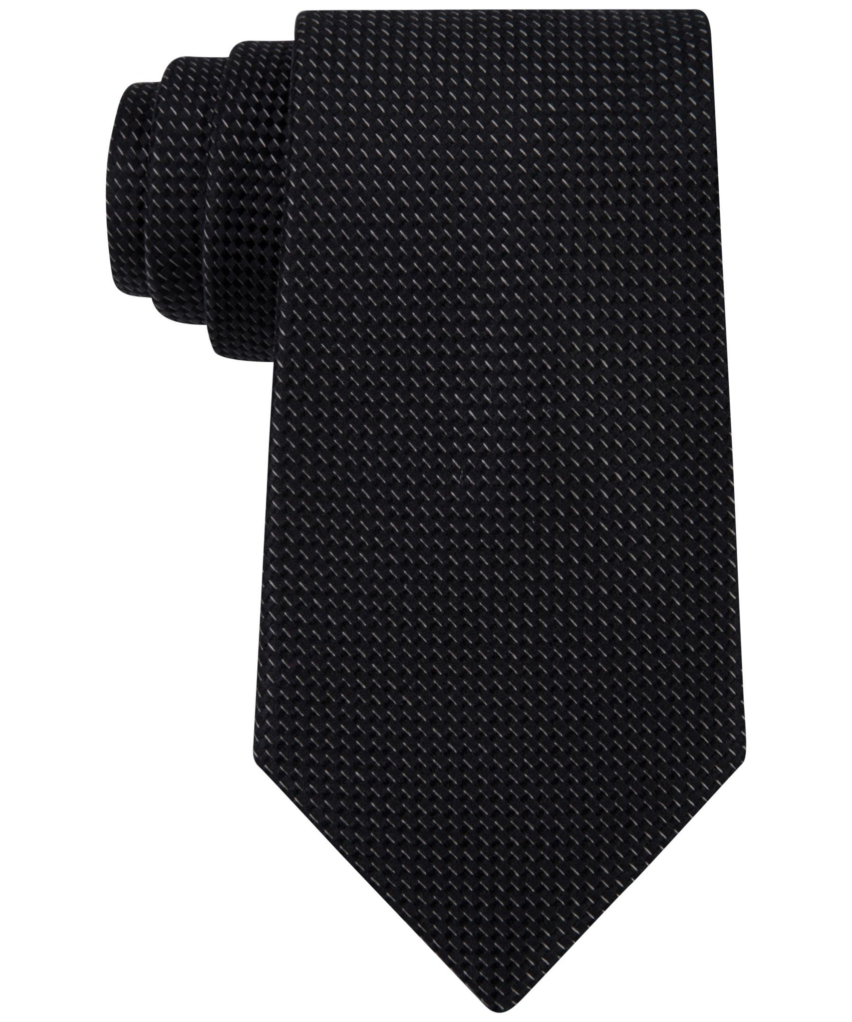 Michael Kors Rome Semi Solid Tie Black One Size