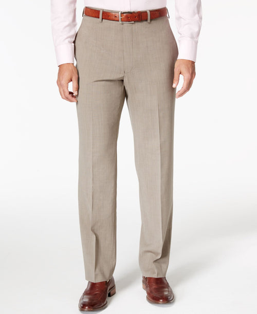 Ralph Lauren Men's Wool Neat Classic-Fit Stretch Dress Pants - CheapUndies.com
