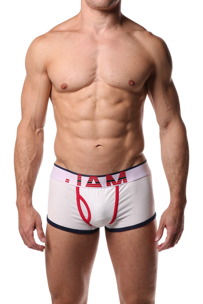 Jam White & Navy Trunk - CheapUndies.com