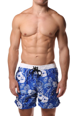 Datch Blue Tropical Swim Short