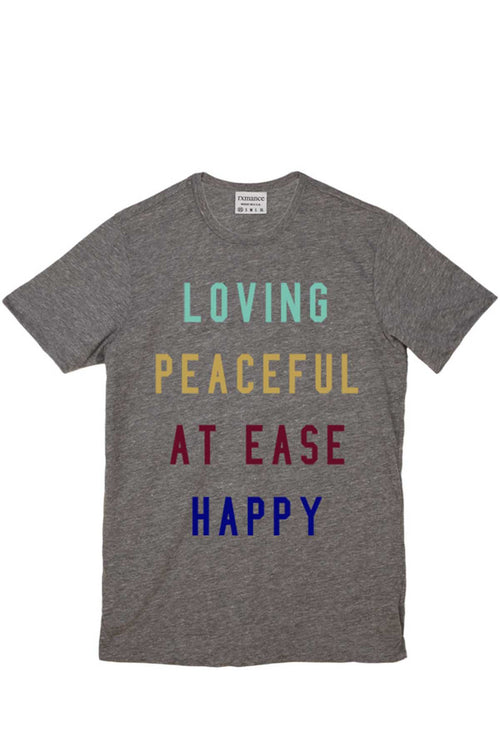 Rxmance Heather Grey Peaceful Crew Tee - CheapUndies.com