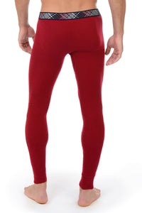 2(X)IST Cranberry Tartan Long Underwear