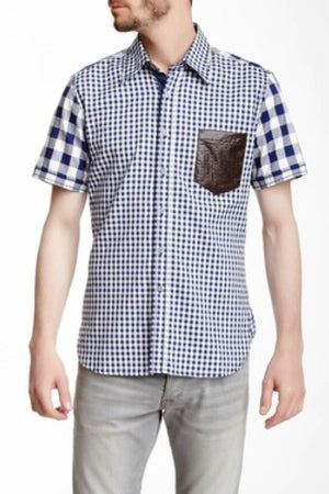 Smash Blue Gingham Button-Up Shirt