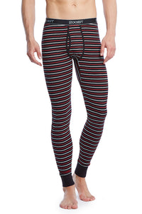 2(X)IST Black Stripe Essential Cotton Long John
