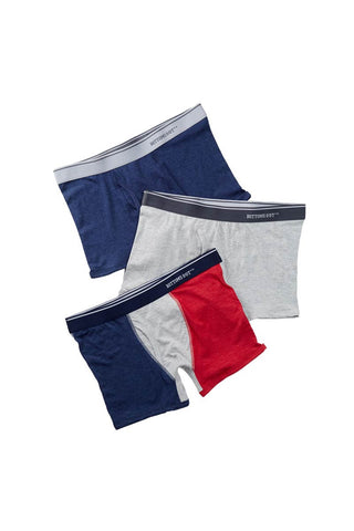 Bottoms Out Navy & Grey Boxer Brief 3-Pack