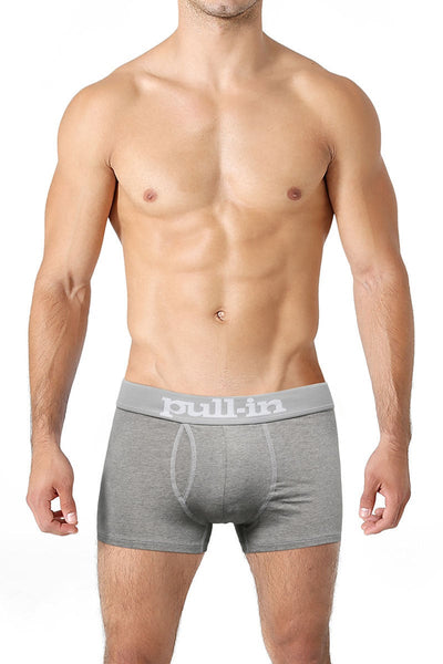 Pull-In Heather Grey Logo Shorty Trunk