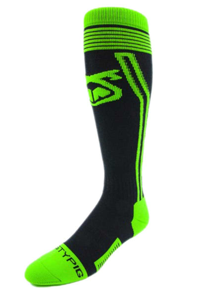 Nasty Pig Black & Green Laser Sock