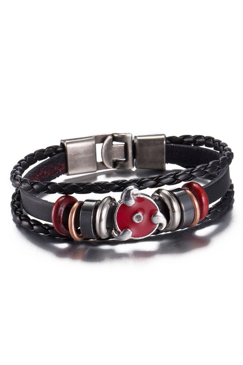 Black Red Eye Charm Bracelet - CheapUndies.com