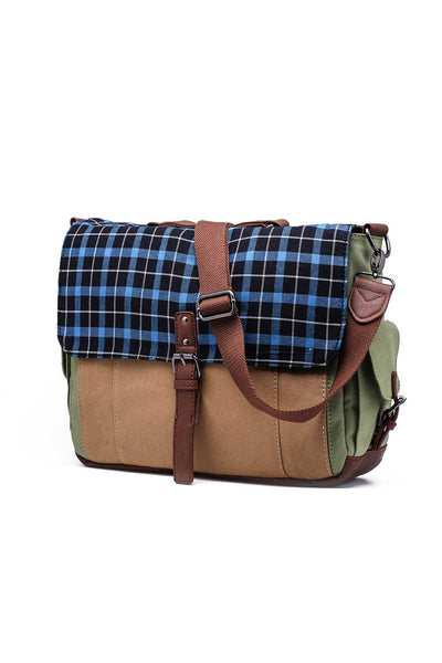 Something Strong Blue & Olive Messenger Bag - CheapUndies.com