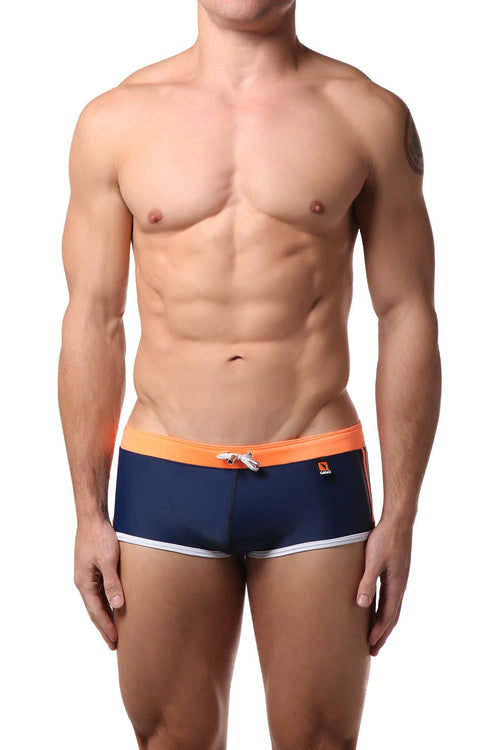 Gigo Blue & Orange Hot Swim Boxer - CheapUndies.com