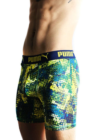 Puma Green Pixel Pop Boxer Brief