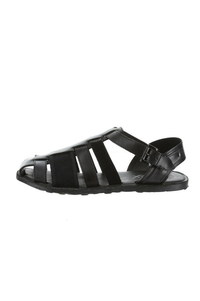 GBX Black Gladiator Leather Sandal