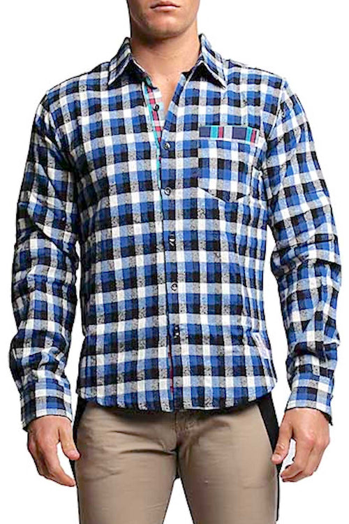 Something Strong Blue Something-False Button-Up - CheapUndies.com