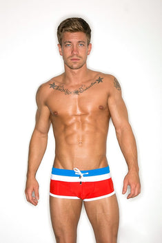 CheapUndies Red Bomb Pop Swim Trunk