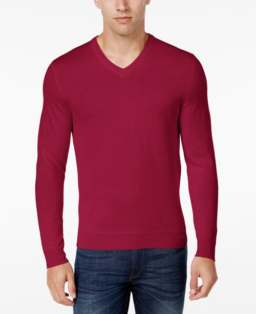 Club Room Merino Blend Pullover Sweater Cherry XLarge - CheapUndies.com
