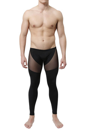 CheapUndies Black Mesh Panel Performance Tight