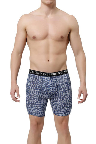 JACHS Navy Flower Boxer Brief