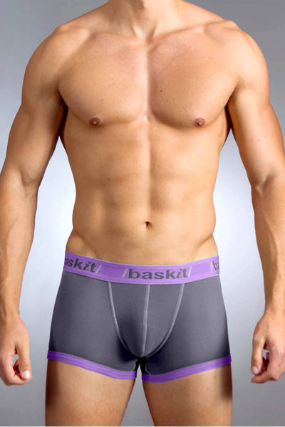 Baskit Pumice/Plum Contrast Low-Rise Trunk - CheapUndies.com