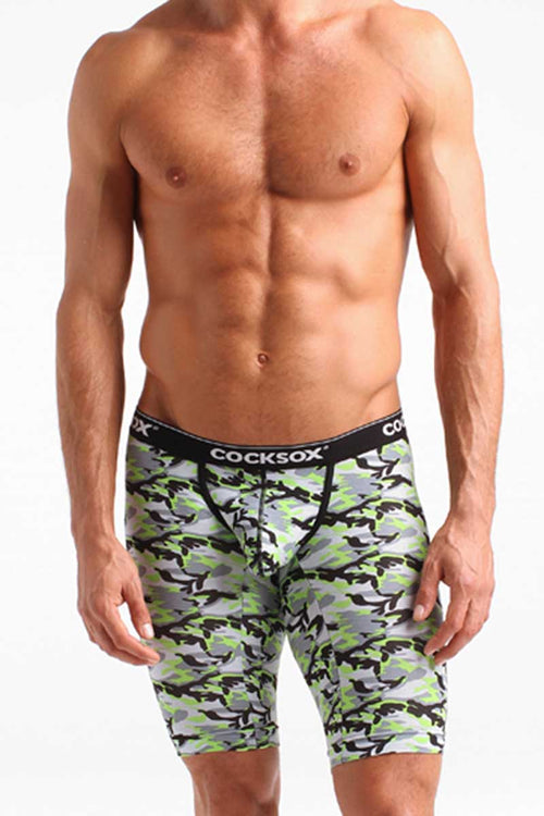 Cocksox Green Camo Long Boxers - CheapUndies.com