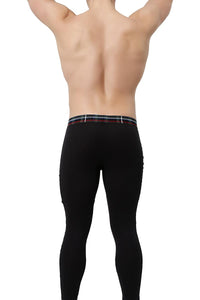 2(X)IST Black Tartan Plaid Long Underwear