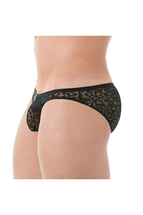 Gregg Homme Floral Burnout Rococo Mesh Brief - CheapUndies.com