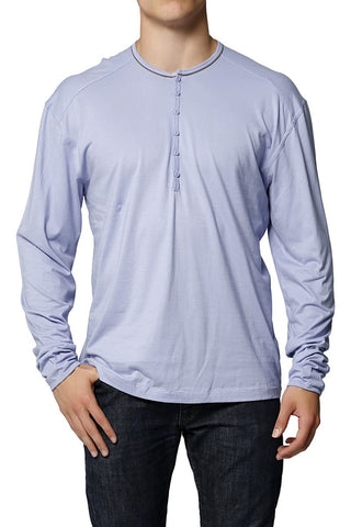 C-IN2 Grape Grey Color Pop Long Sleeve Henley
