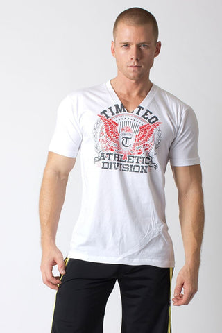 Timoteo White Eagle V-Neck Tee
