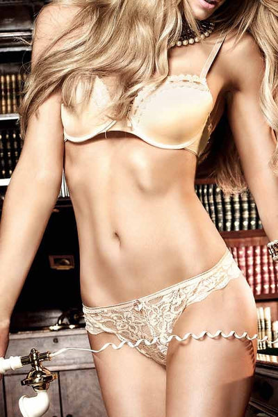 Baci Nude Microfiber and Lace Bra with Underwire