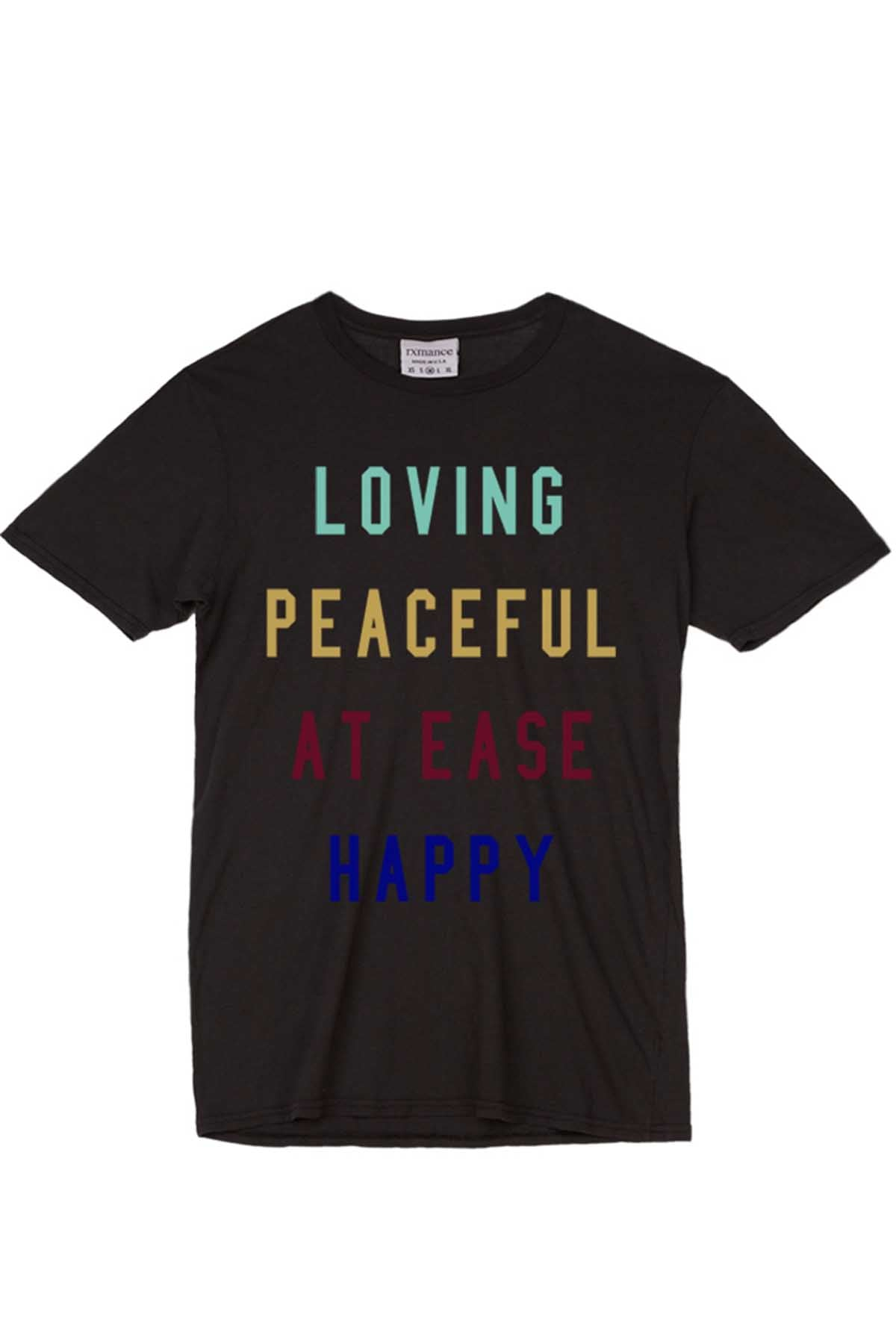 Rxmance Unisex Black Peaceful Crew Tee